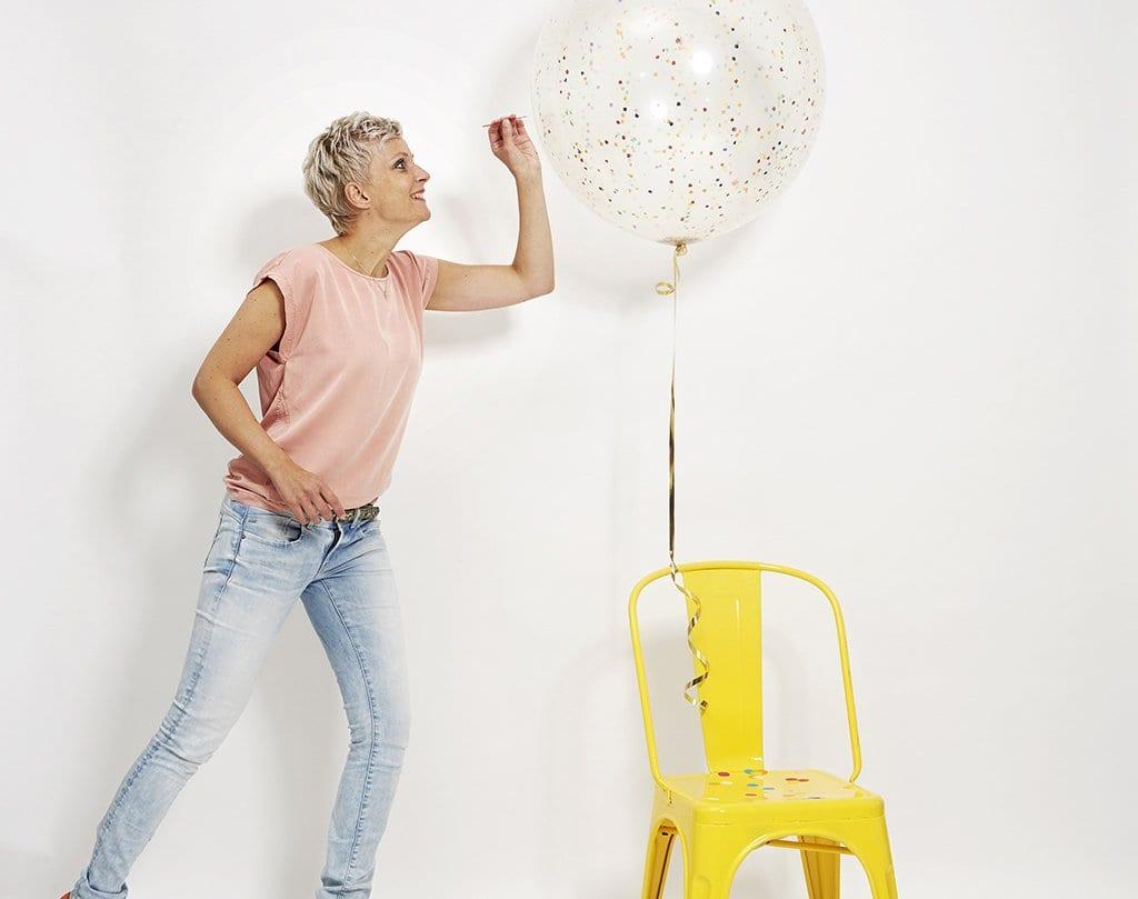 Ingrid met ballon