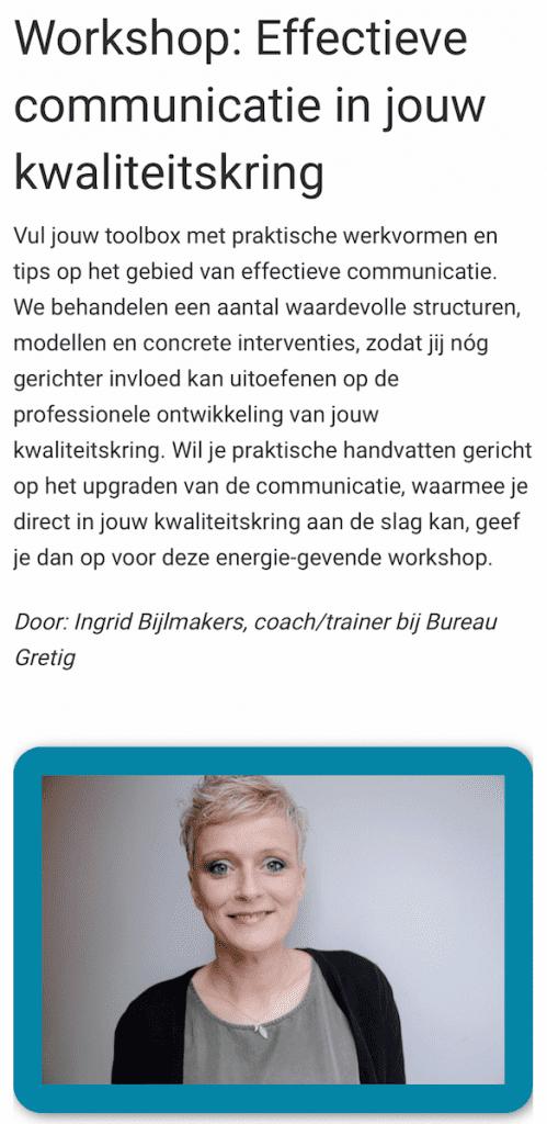Workshop effectieve communicatie in jouw kwaliteitskring