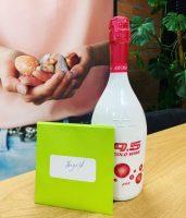 visual-viermoment met fles en kaartje